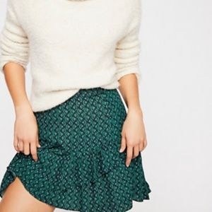 Free people green boho skirt NWT